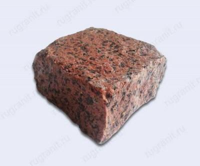Пилено-колотая брусчатка из гранита из слэба, 10x10x5, цвет красный