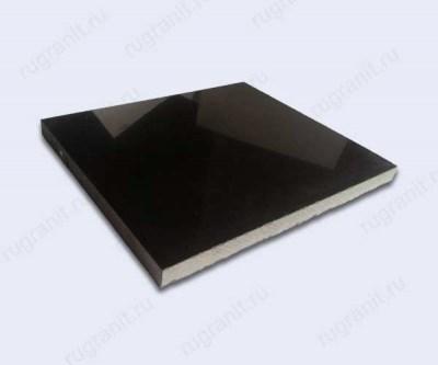Плитка полированная из лабрадорита, размер 30x30x2 см, цвет черный