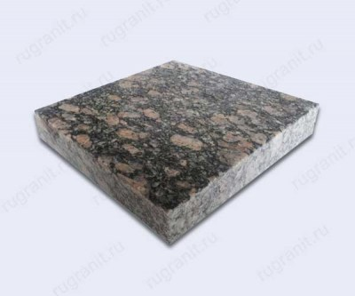 Гранитная плитка термообработанная, размер 20x20x3 см, цвет серый