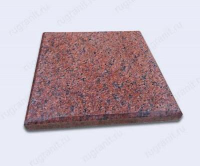 Плита из гранита термообработанная с фаской, 30x30x3 см