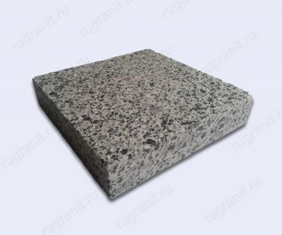 Плита термообработанная из гранита 20x20x3 см серого цвета