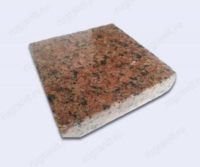 Плитка полированная из гранита 20x20x3 см, цвет красный, жадковка
