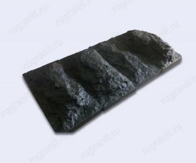 Плитка скала габбро 30x30x10 см черного цвета