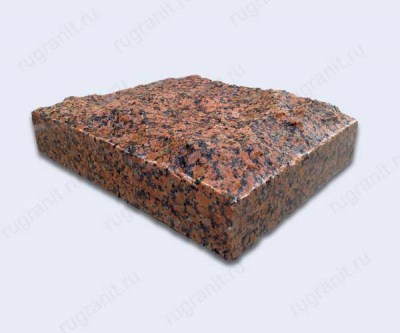 Гранитная плитка скала, размер 30x30x8 см, цвет красный, емельяновка