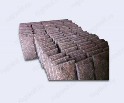 Скала плита из гранита, 60x60x10 см, цвет красный, емельяновка