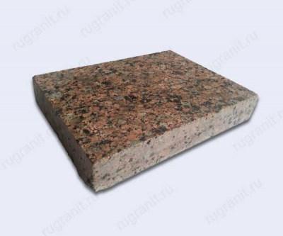 Гранитная плита полированная, размер 20x20x3 см, цвет красный, межиричка