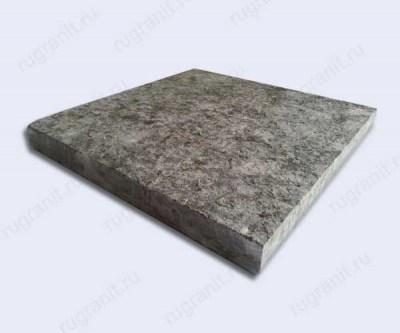 Плитка термообработанная из лабрадорита 30x30x3 см серого цвета
