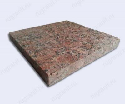 Гранитная плитка термообработанная, размер 30x30x3 см, цвет красный, капустинская